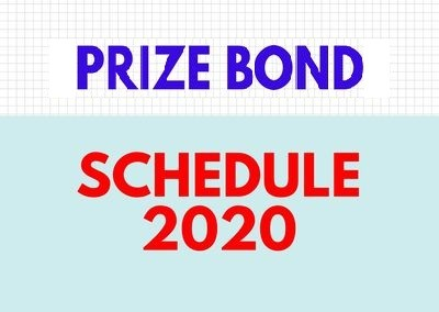You are currently viewing Prize Bond Schedule 2020