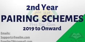 2nd Year Pairing Scheme 2019 - All Subjects