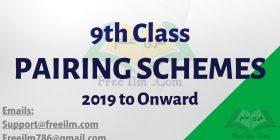 9th class assessment scheme 2019 to onward